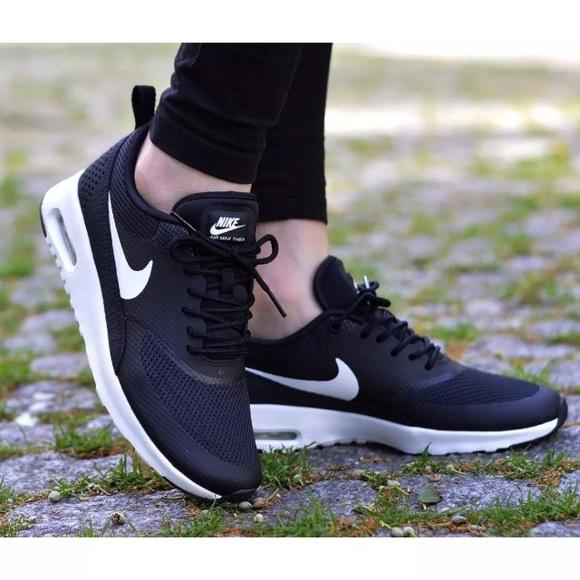 best service 16eb6 2fb2a Women s Nike Air Max Thea Black + White Sneakers